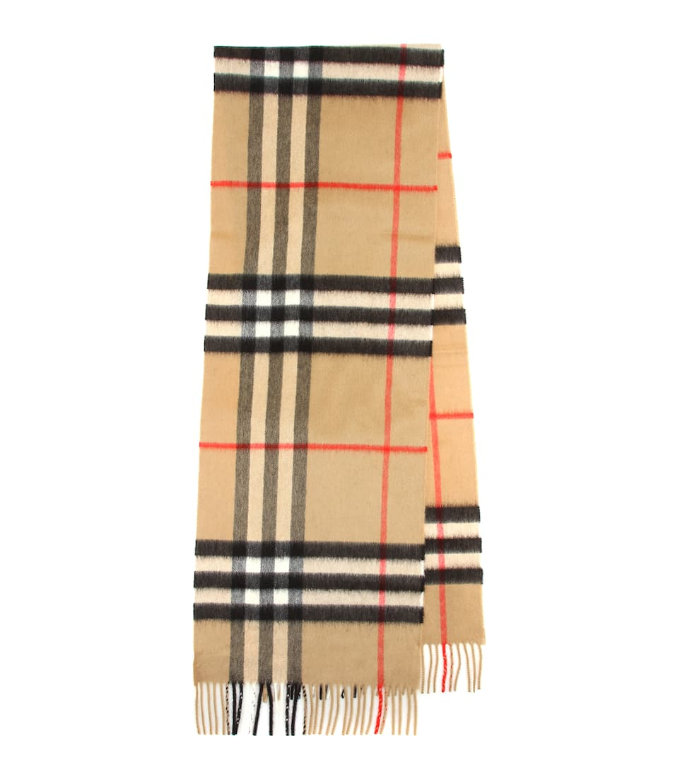 new product uk cheap sale low price Giant Check cashmere scarf