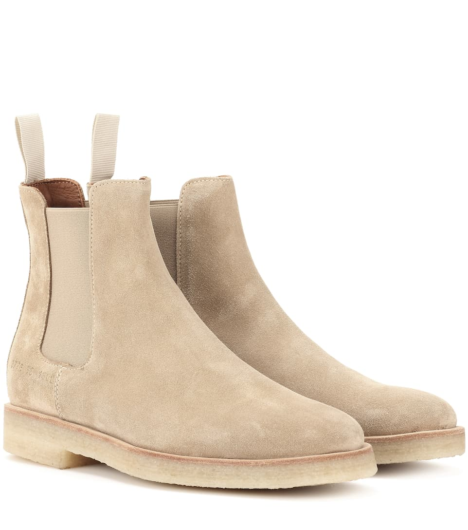 Common Projects Ankle Boots Chelsea aus Veloursleder