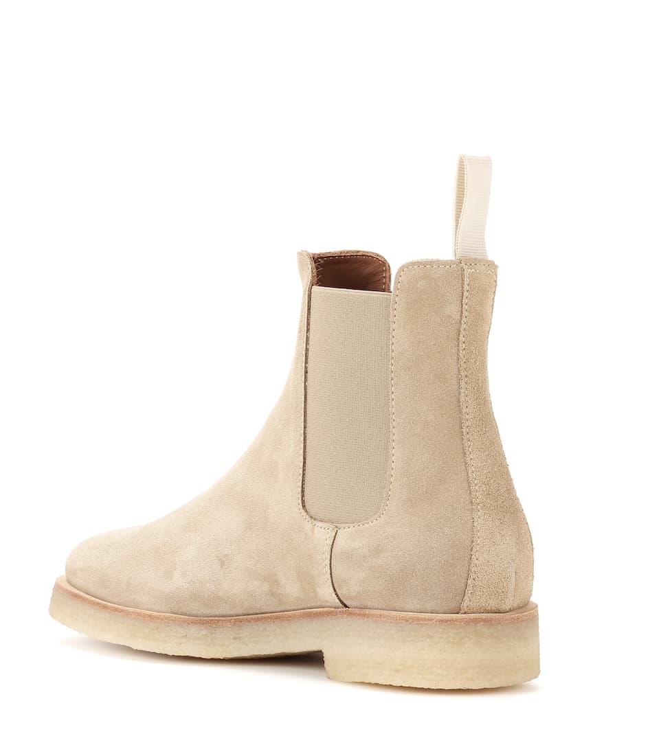 Common Projects Ankle Boots Chelsea aus Veloursleder Online-Shopping Zum Verkauf VFIR5