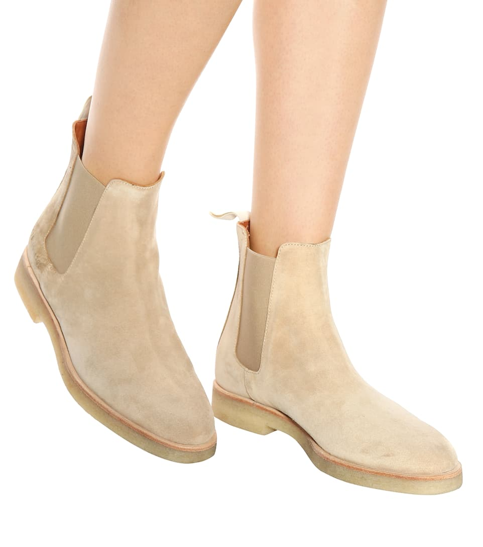 Common Projects Ankle Boots Chelsea aus Veloursleder Neuesten Kollektionen Günstig Online z6e30Qpve
