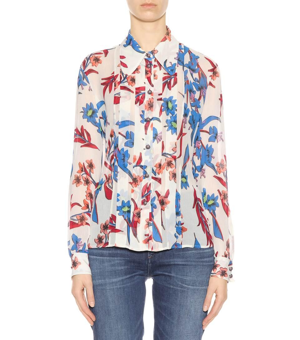 Günstige Preise Und Verfügbarkeit Billig Verkauf Klassische Etro Bedruckte Bluse aus Seide Freiraum 100% Original A4fWV