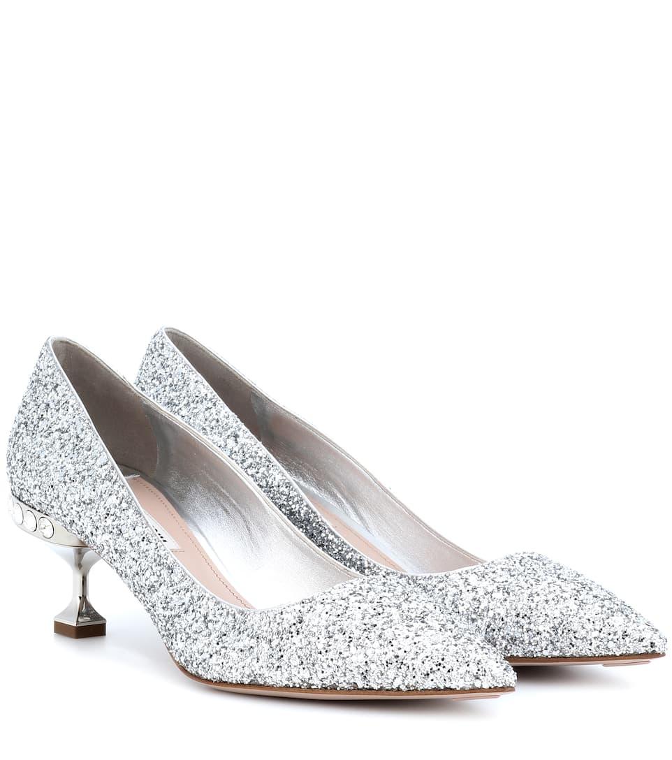 Glitter kitten-heel pumps Miu Miu bTIG5Shz