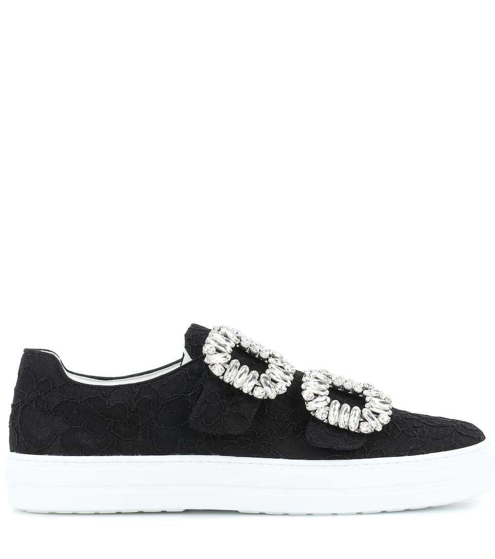 Roger Vivier Sneaky Viv' lace sneakers Black Reliable Sale Online cjqRU9