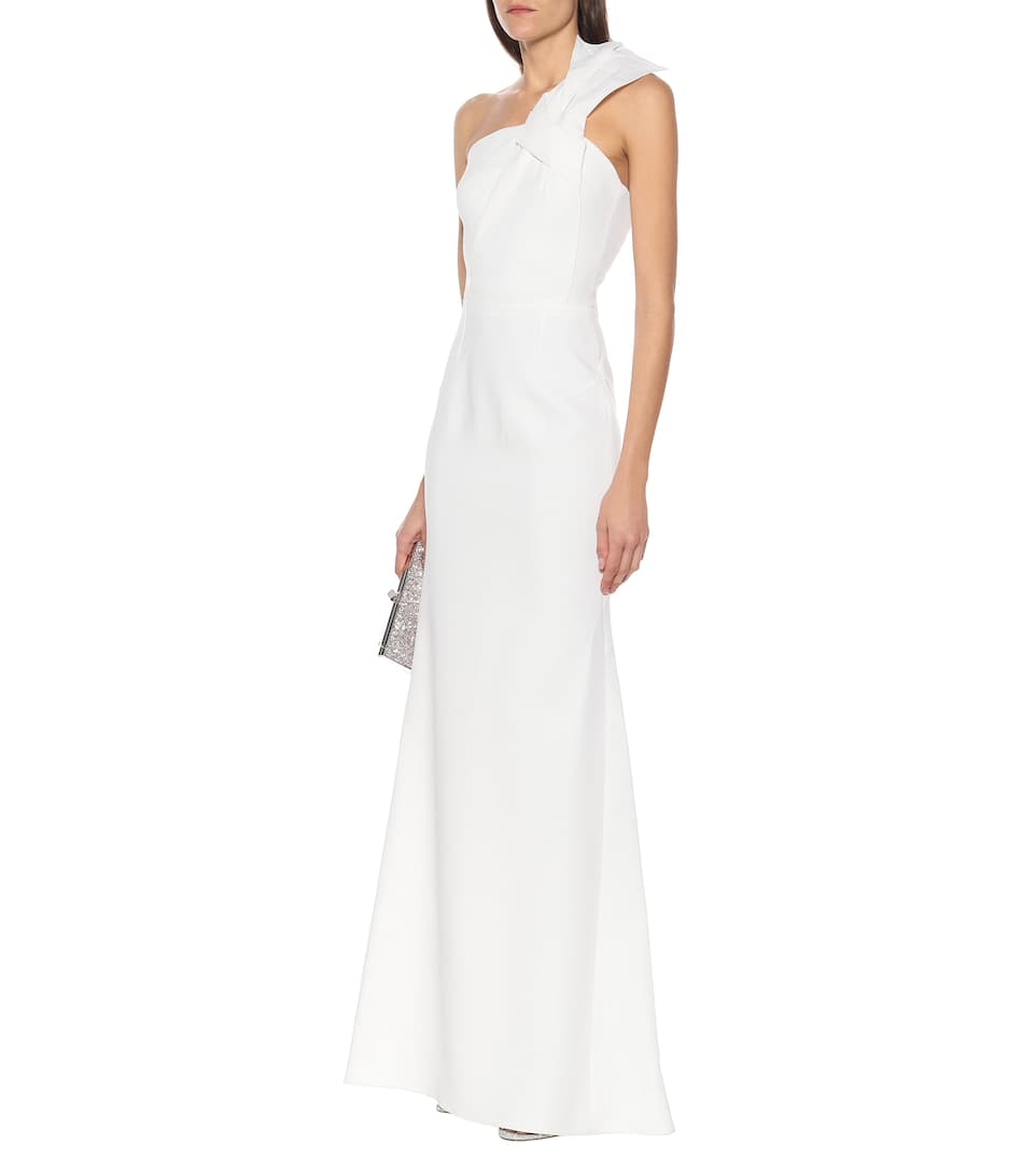 Roland Mouret - Gosford one-shoulder wool-crêpe gown
