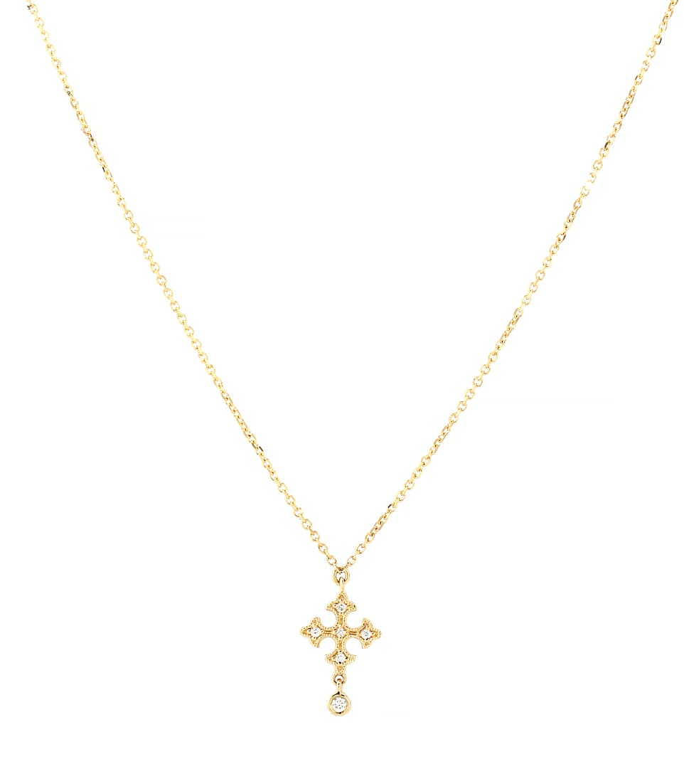 Passion Simple 18kt Yellow Gold Necklace With White Diamonds by Stone Paris