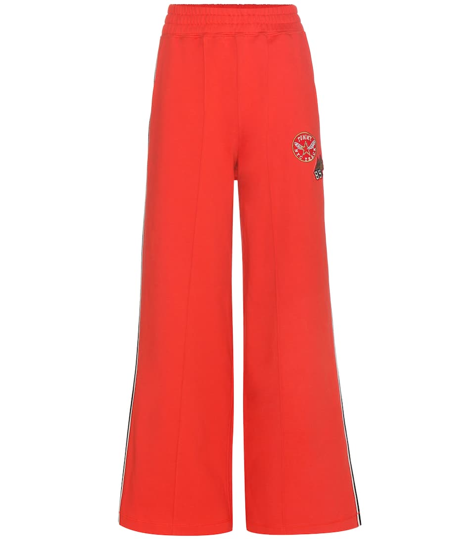Rev up your workout in red with Gigi's Tommy Hilfiger trackpants