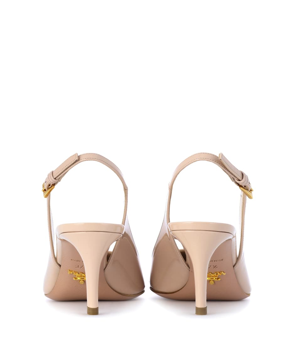 Prada Slingback-Pumps aus Lackleder