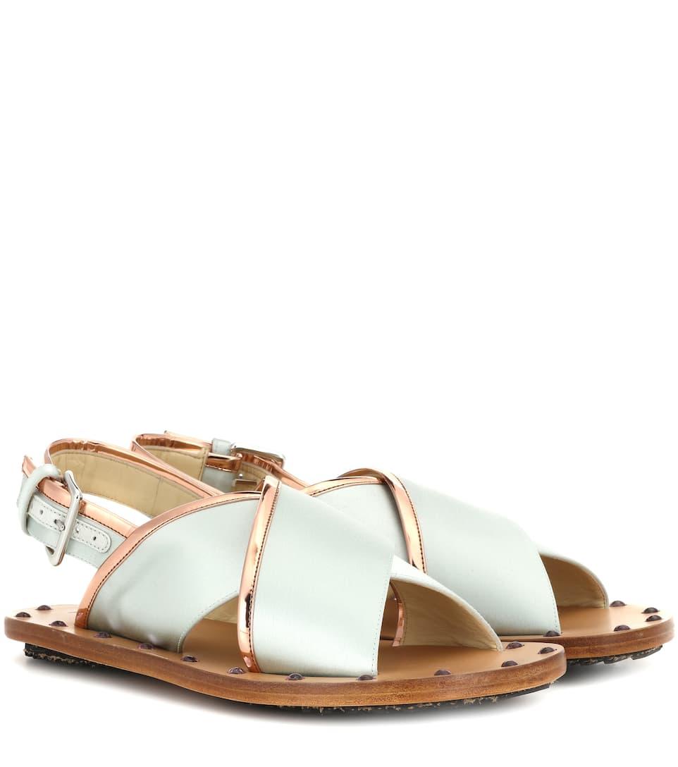 Marni Sandalen aus Satin