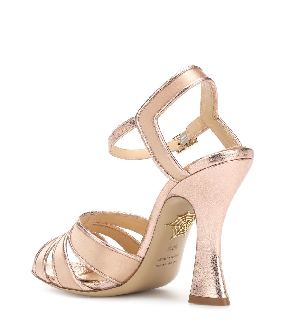 Charlotte Olympia Sandals Made Of Metallic Leather And Satin