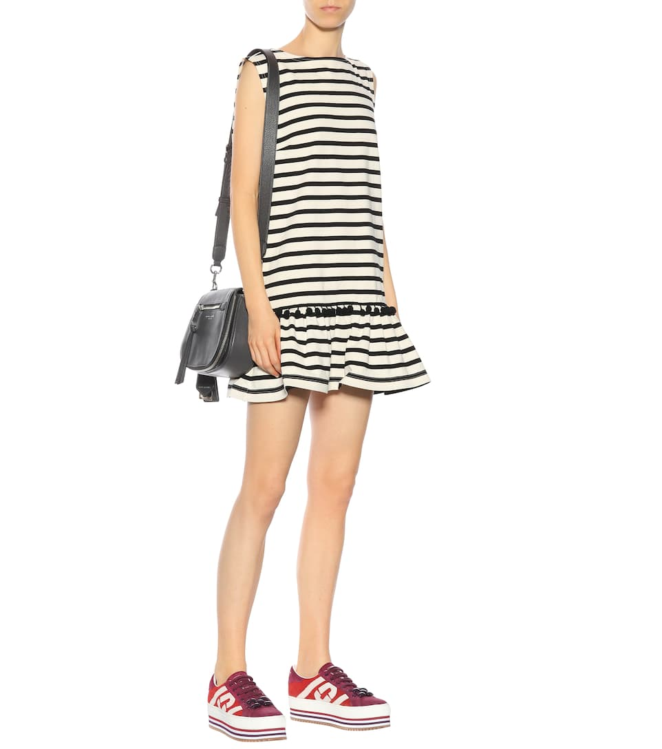 Marc Jacobs Gestreiftes Minikleid aus Baumwolle