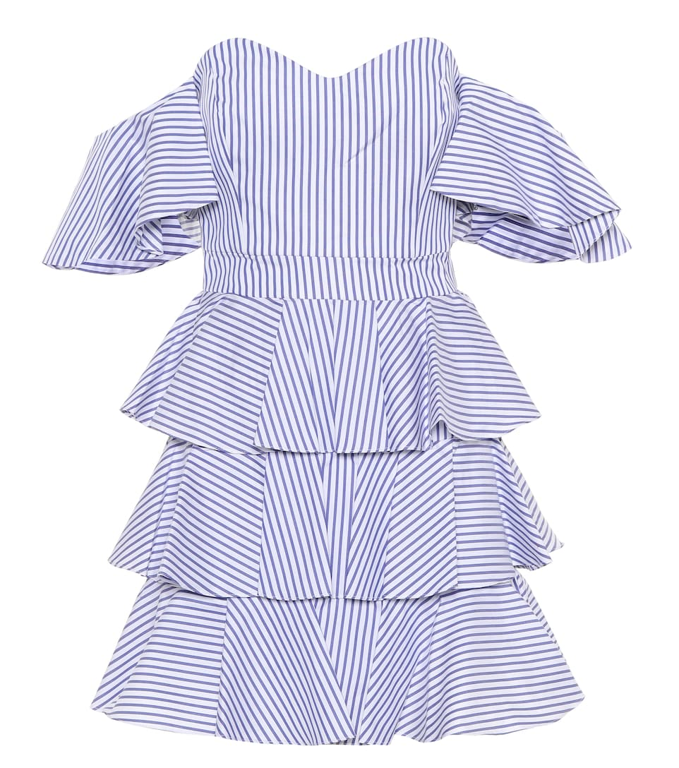 Irene striped off-the-shoulder dress Caroline Constas Clearance Low Price Fee Shipping Best Seller Clearance Big Sale my5CuU