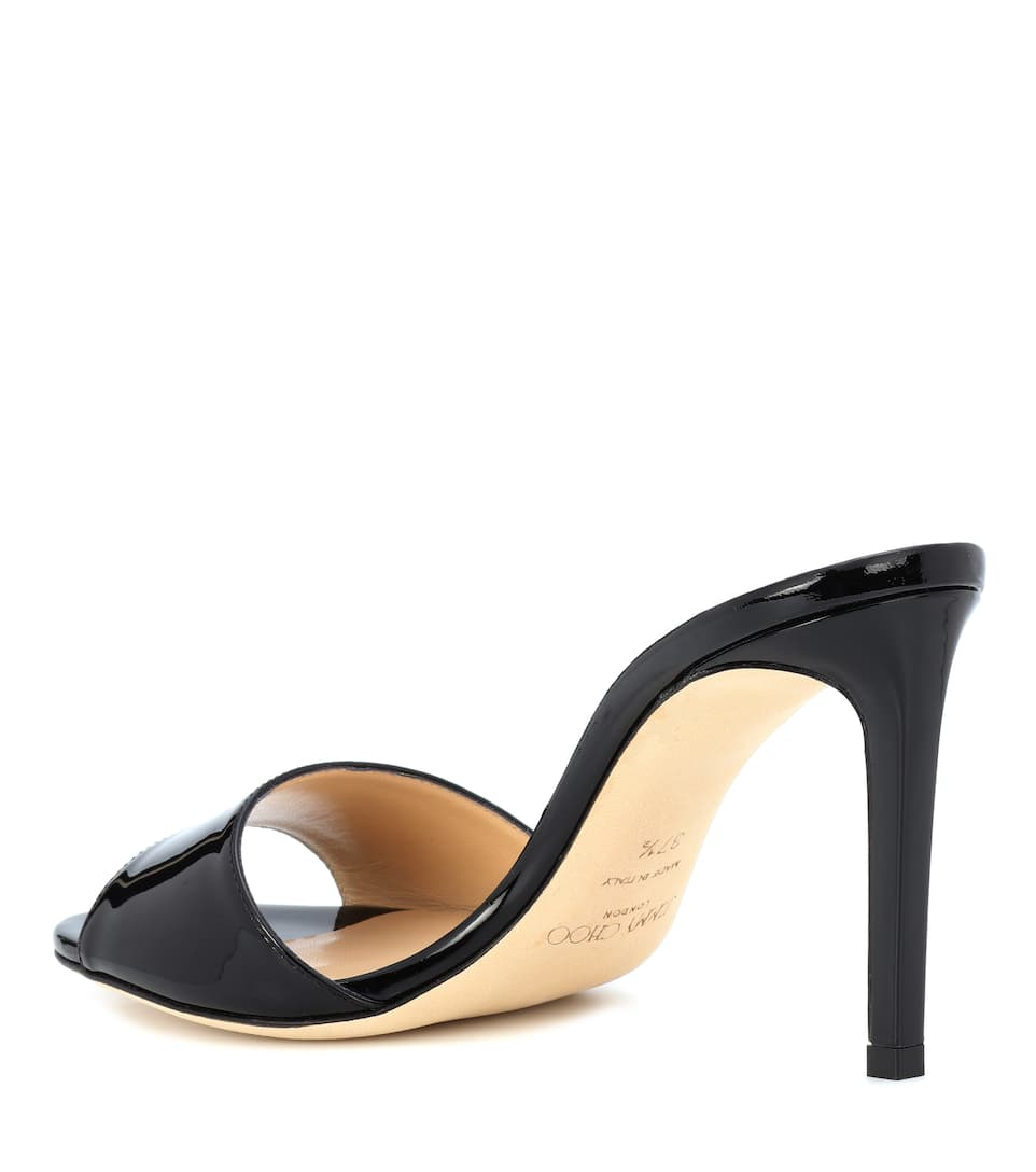 Jimmy Choo Sandalen Stacey Aus Lackleder