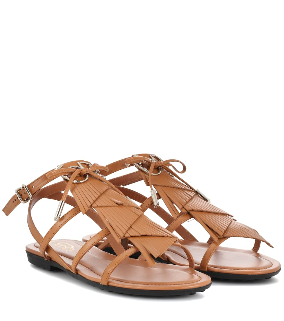 Cheap Prices Reliable Latest Collections Sale Online Tod's Fringed leather sandals Cuio Cheap 2018 Unisex Outlet Brand New Unisex hOFOo