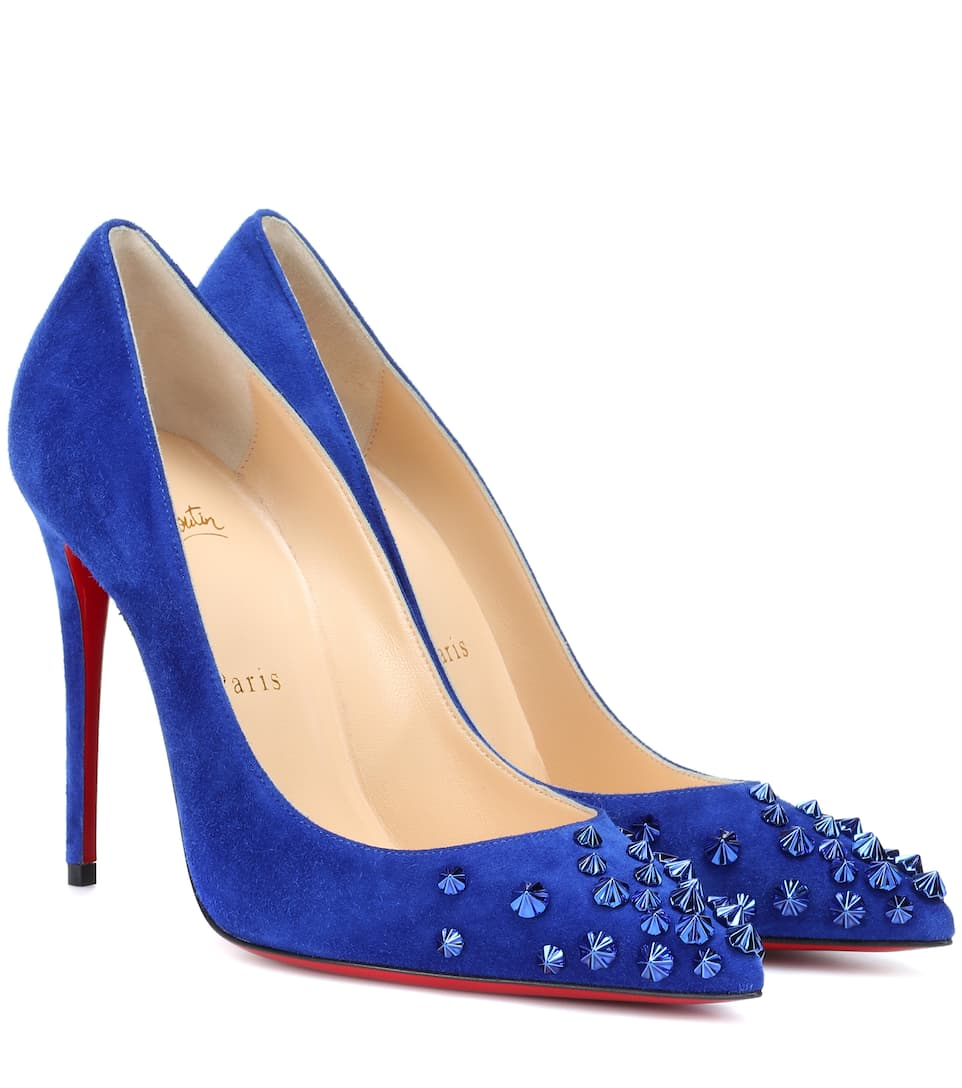 Drama 100 Suede Pumps by Christian Louboutin