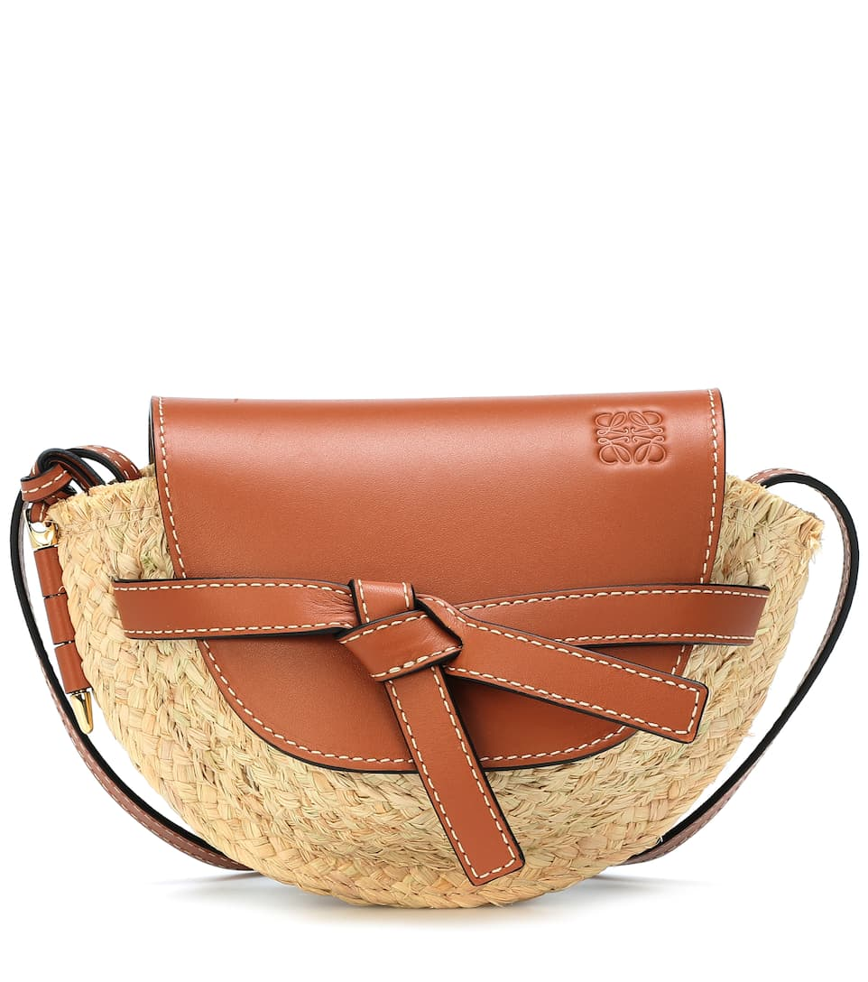 ebce73a546 Gate Mini raffia crossbody bag