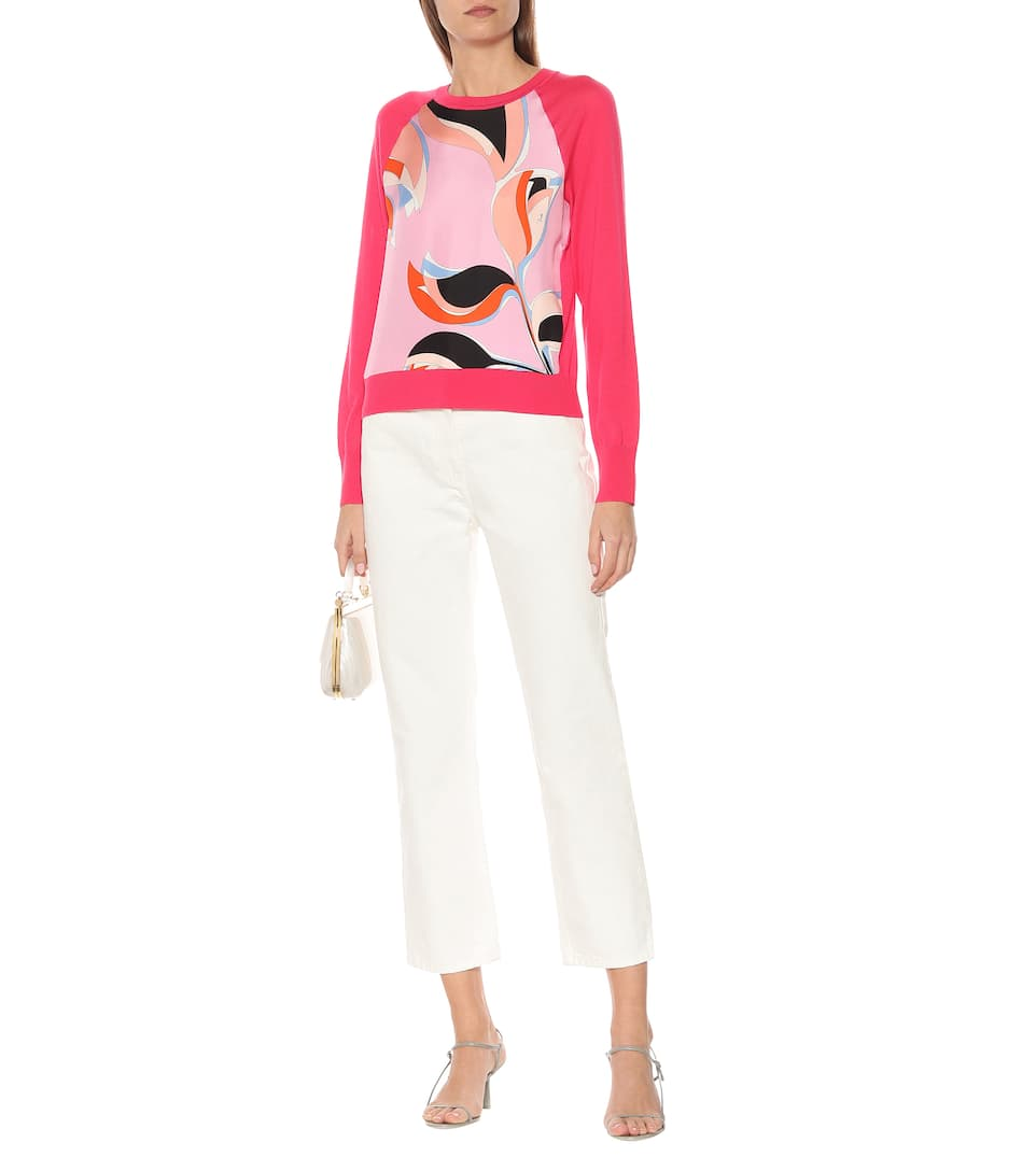 Emilio Pucci - Printed wool and silk sweater