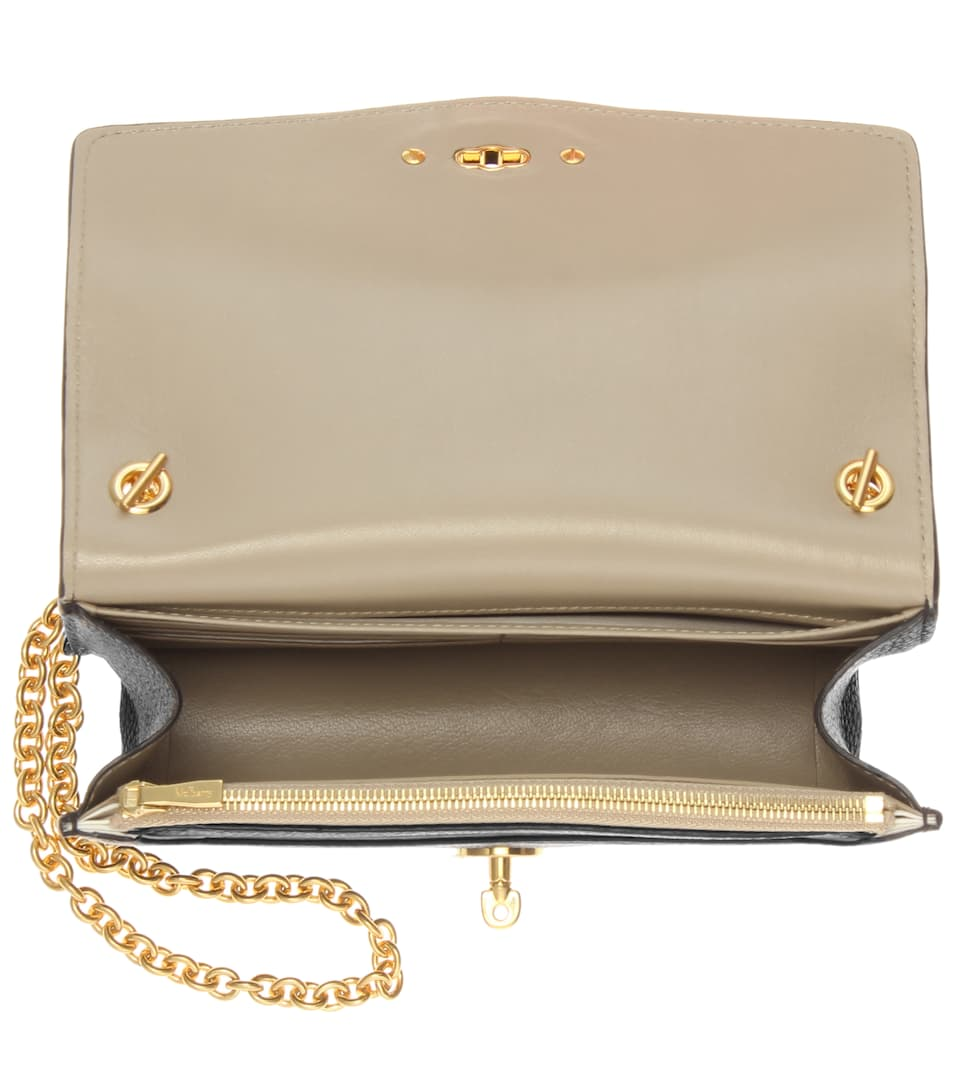 Leather clutch mulberry : Postman s lock leather clutch mulberry