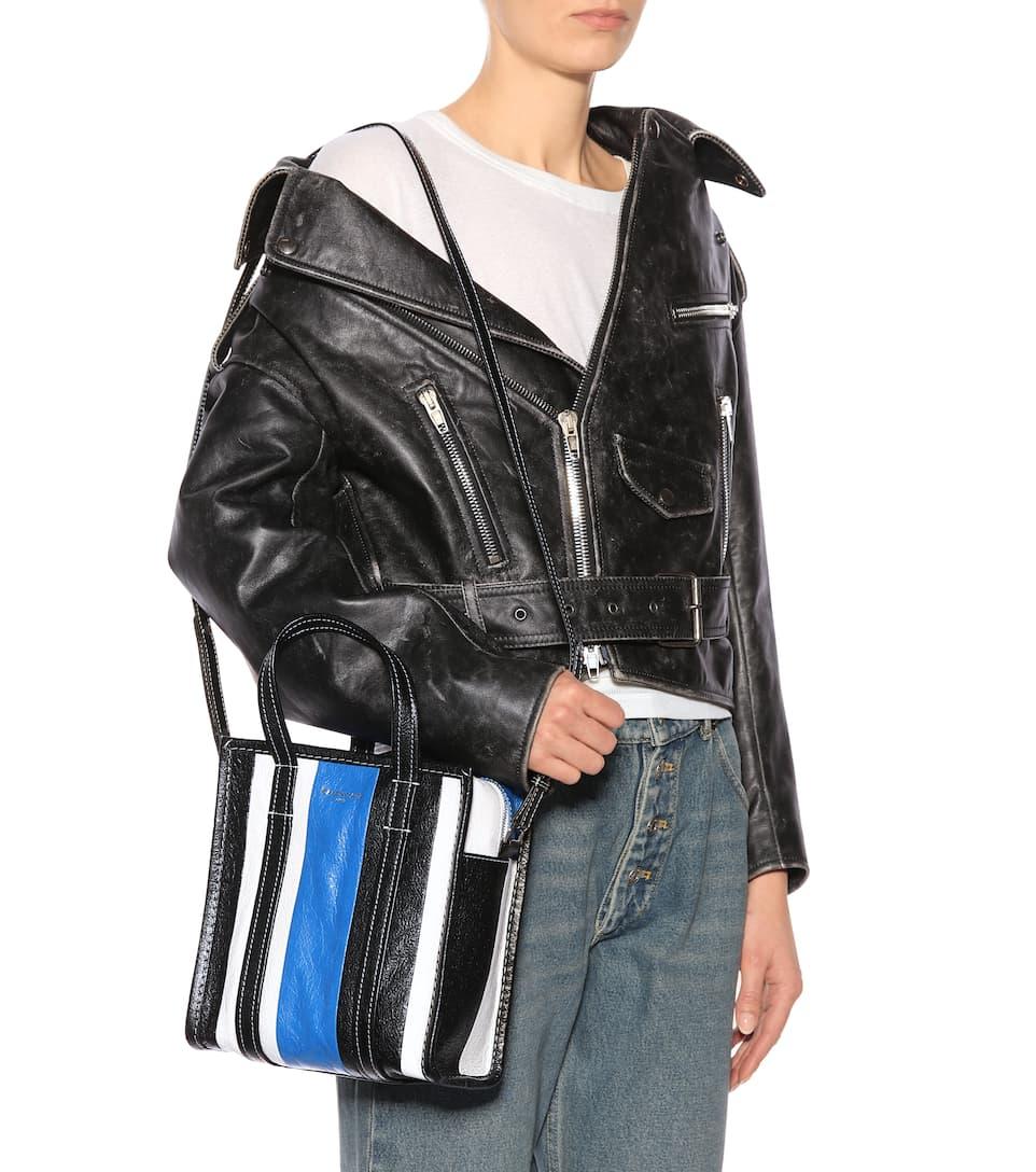 da0d71c34 Bazar Xs Leather Shopper - Balenciaga | mytheresa