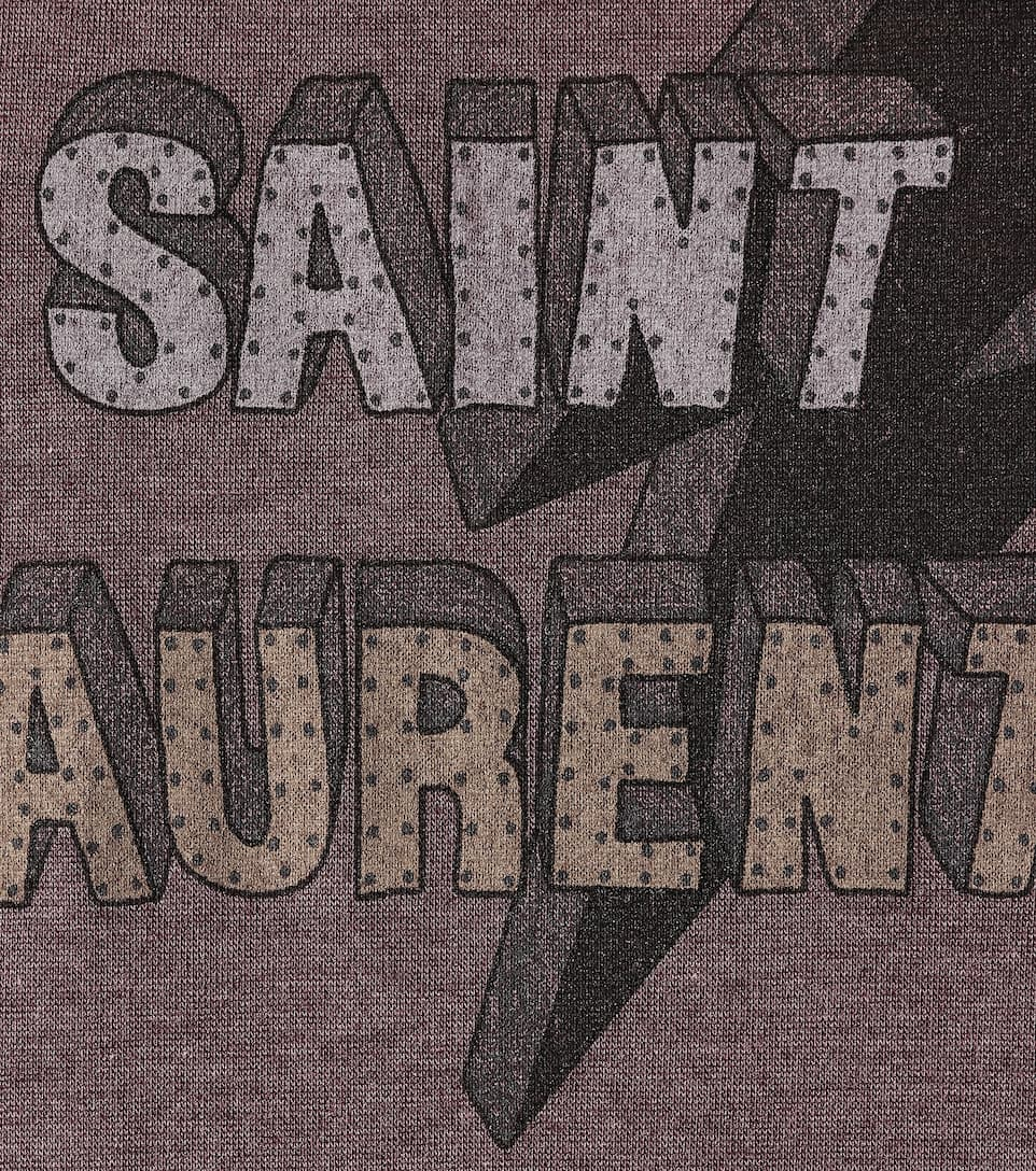 Saint Laurent Bedrucktes T-Shirt