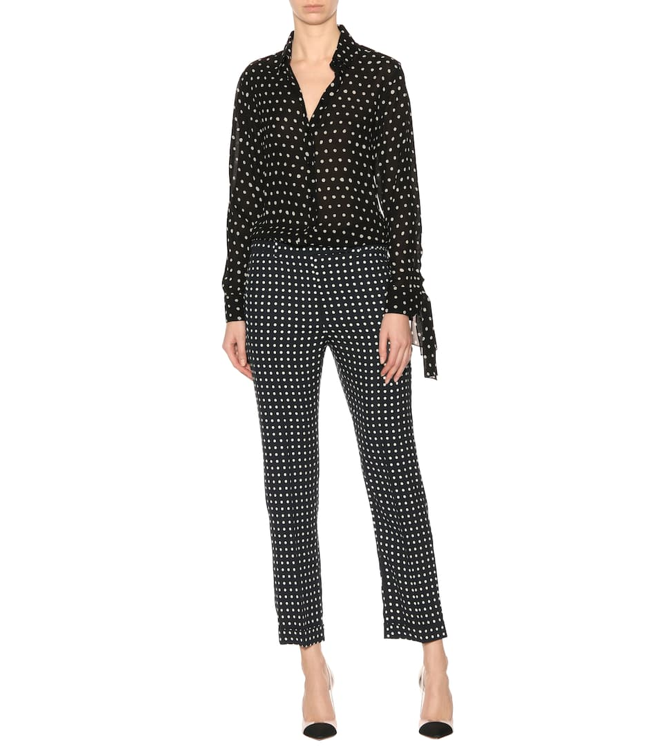 Haider Ackermann Shortened Trousers With Polka-dots