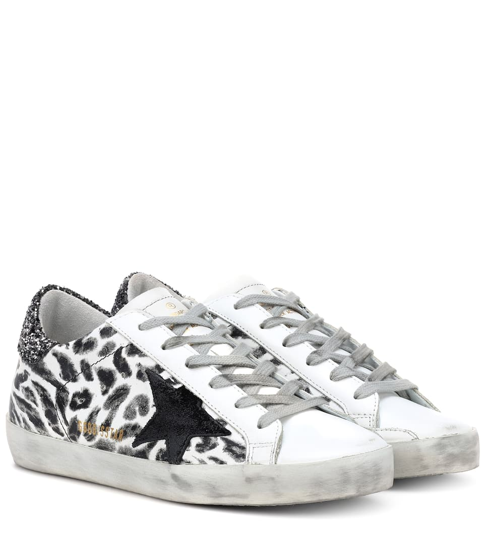 b3933e36b5743 Shoptagr | Superstar Leopard Leather Sneakers by Golden Goose Deluxe ...