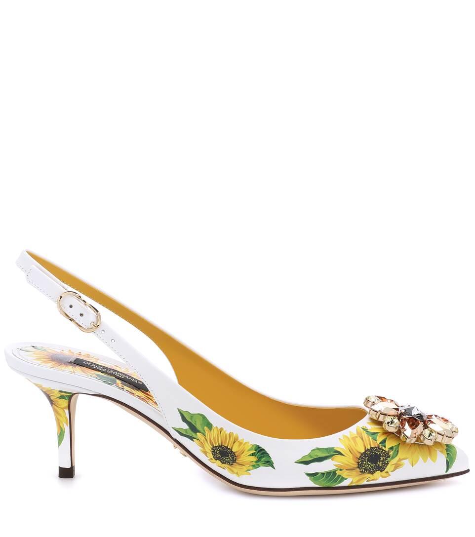 N° GabbanaEscarpins En Ornements Imprimés Cuir Artnbsp;p00401376 Dolceamp; À nwOk80P