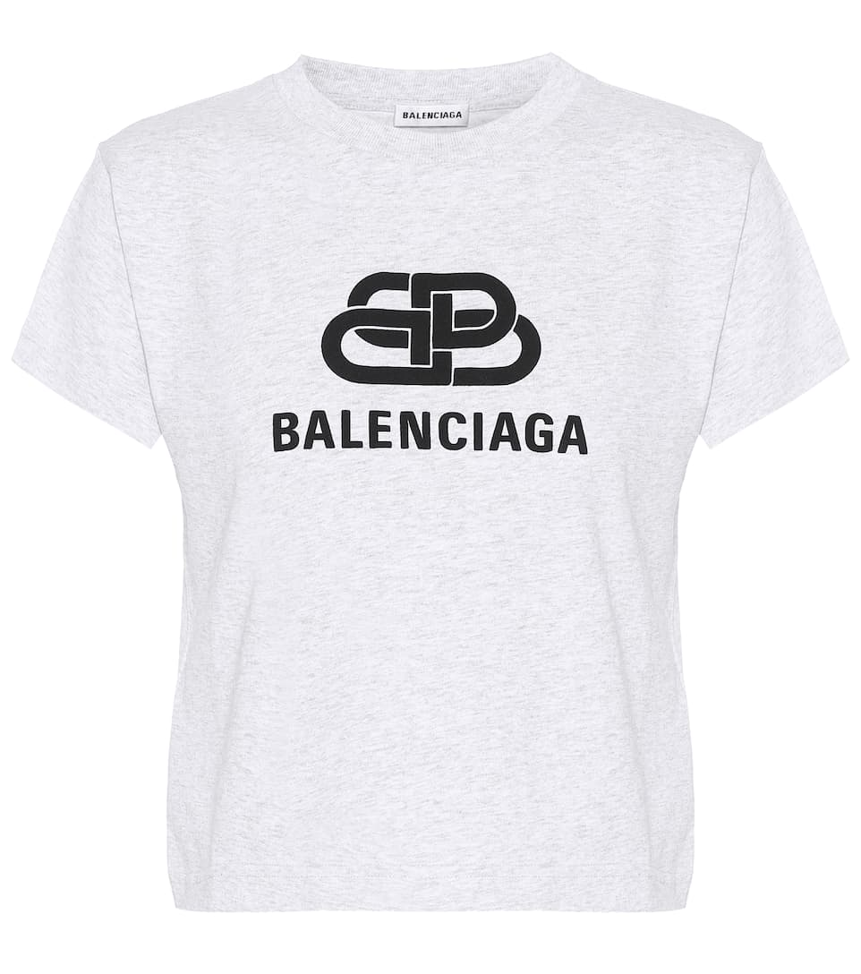 Balenciaga Shirts Logo cotton T-shirt