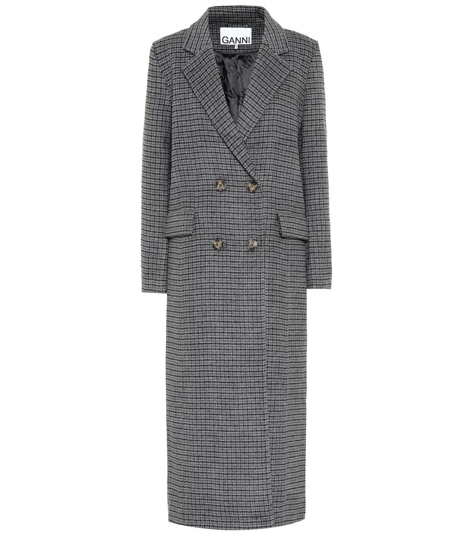 sale retailer 5a023 26b77 Cappotto a quadri in misto lana