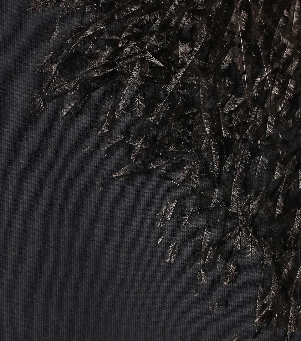 Christopher Kane Baumwoll-Sweatshirt mit Straußenfedern