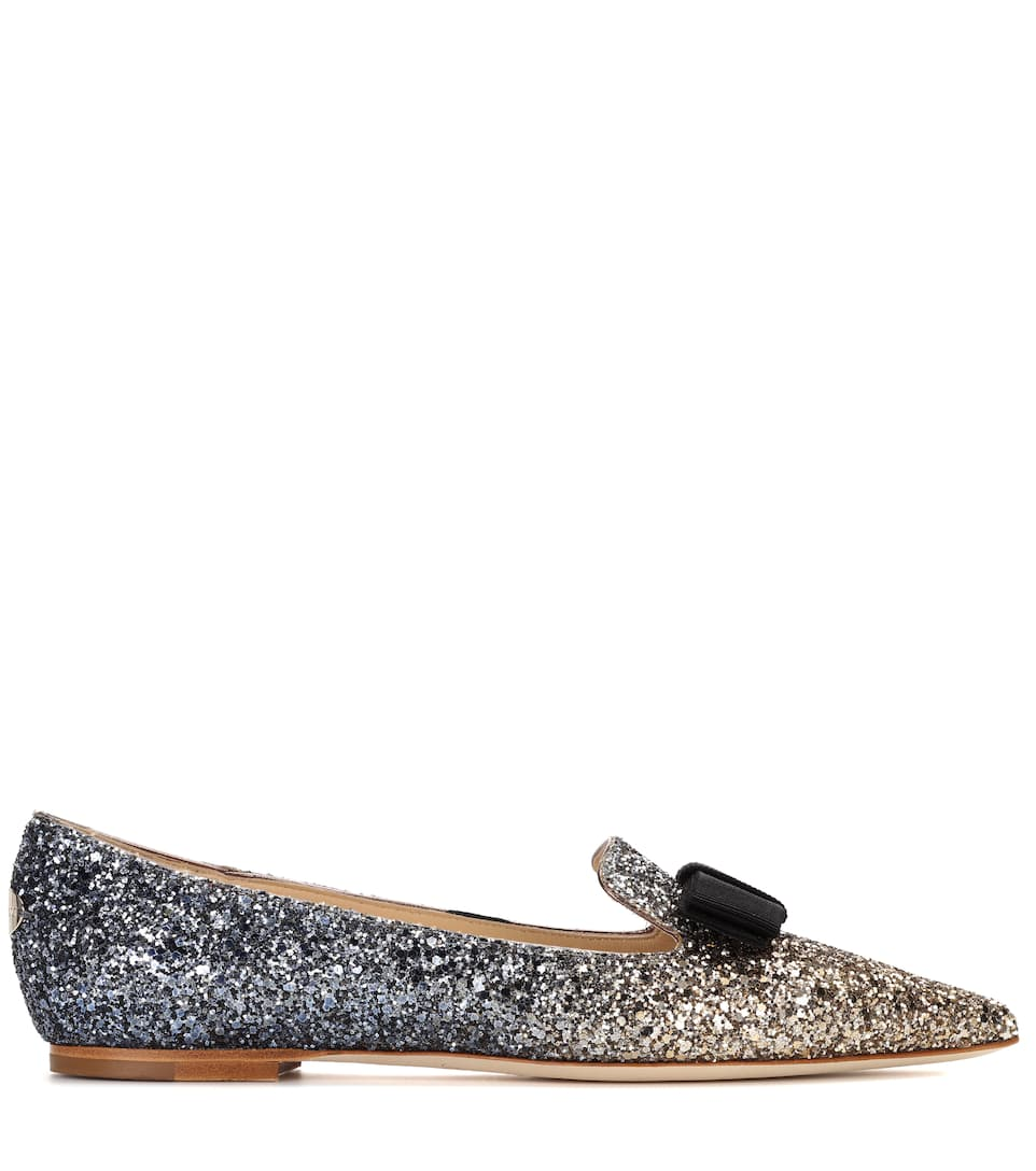 Jimmy Choo Exclusive to mytheresa – Gala glitter ballerinas discount in China buy cheap factory outlet shopping online outlet sale discount codes clearance store oKtGGGowL1