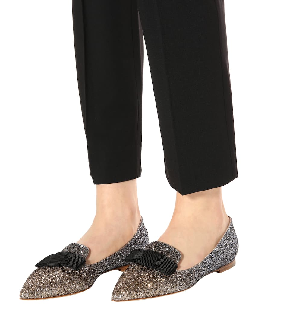 Jimmy Choo Exclusively At Mytheresa.com - Loafers Gala With Glitter
