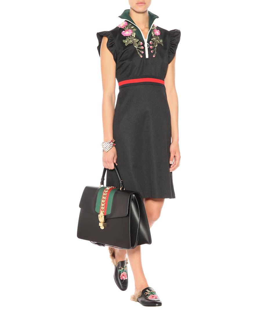 Gucci Sylvie Leather Maxi Top-Handle Bag iAkZU