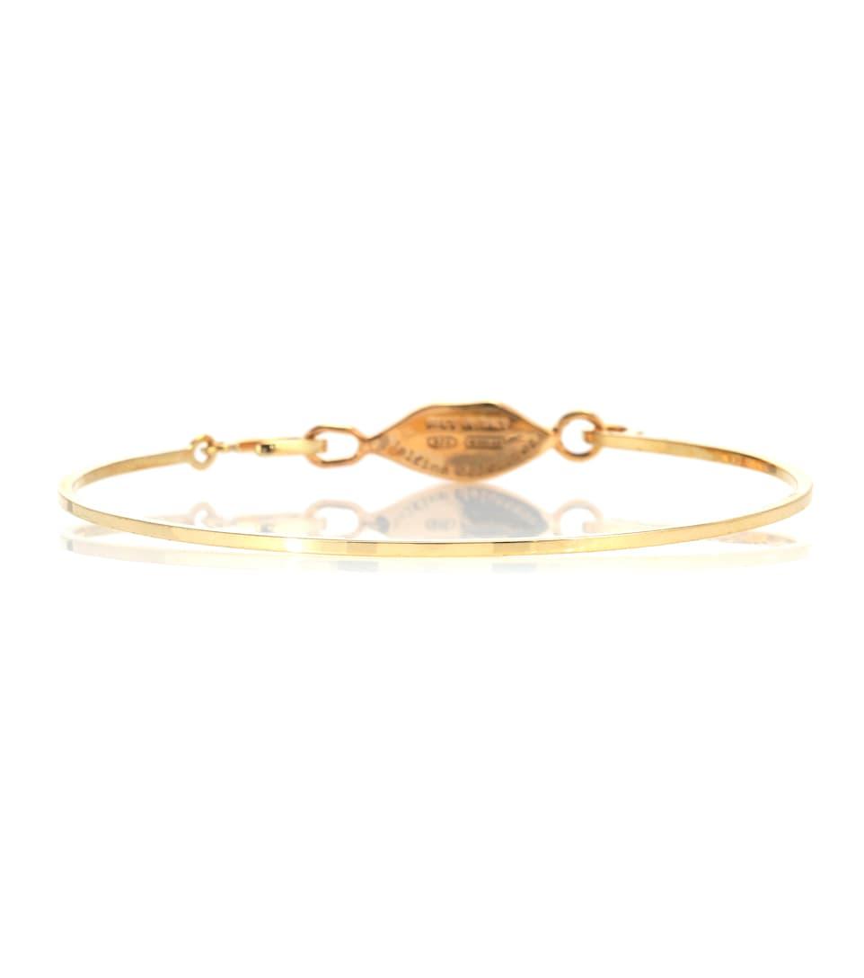 Delfina Delettrez Grandma Lips 9kt gold-plated bracelet lcxXDAVA6y