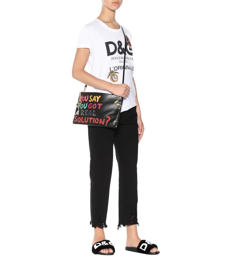 Mules En Fourrure - Dolce & Gabbana Acheter De Vente En Ligne Édition Limitée Vente En Ligne Pas Cher 2018 Vente À Chaud À Vendre Réductions De Prix Pas Cher YVfVZDxcNo