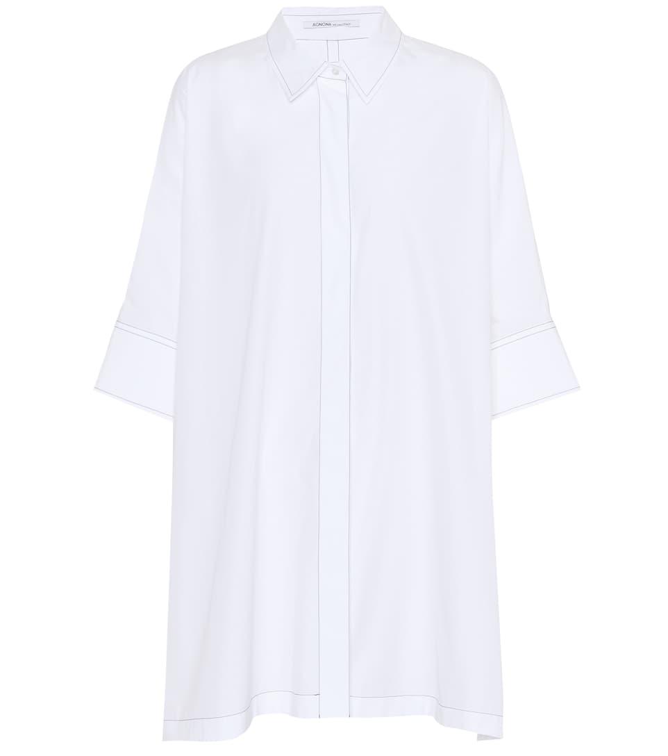 Agnona de gran algodón de Top tamaño Blanco xSqPAww1