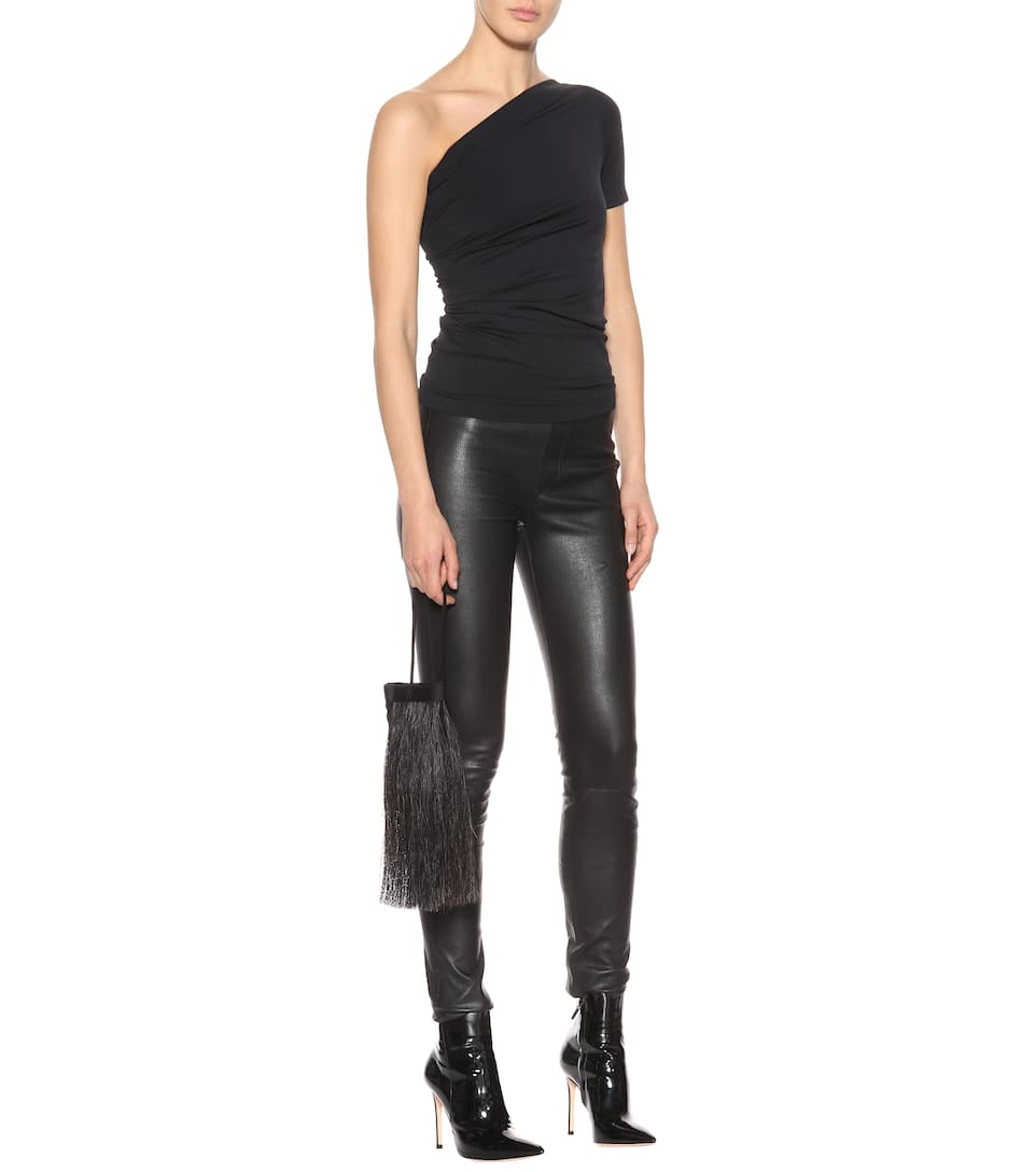 Helmut Lang Asymmetrisches Top aus Stretch-Material