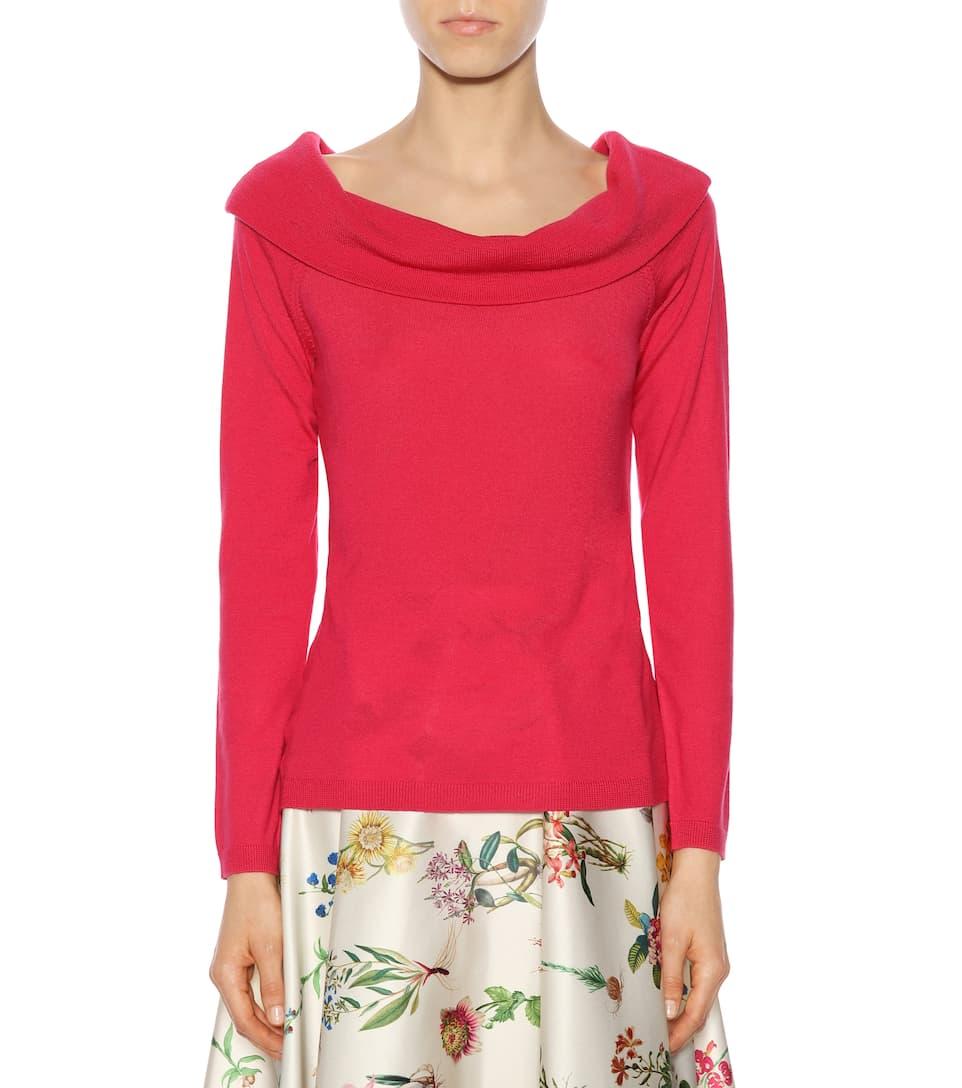Jardin des Orangers Off-Shoulder Pullover aus Wolle