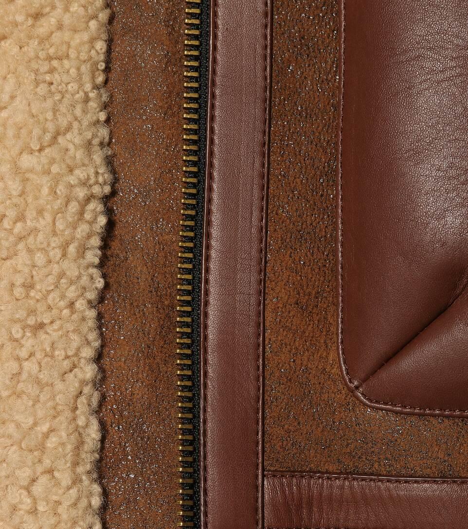 Burberry Lederjacke mit Shearling Neuesten Kollektionen Verkauf Online Eastbay XJ7YdJtj