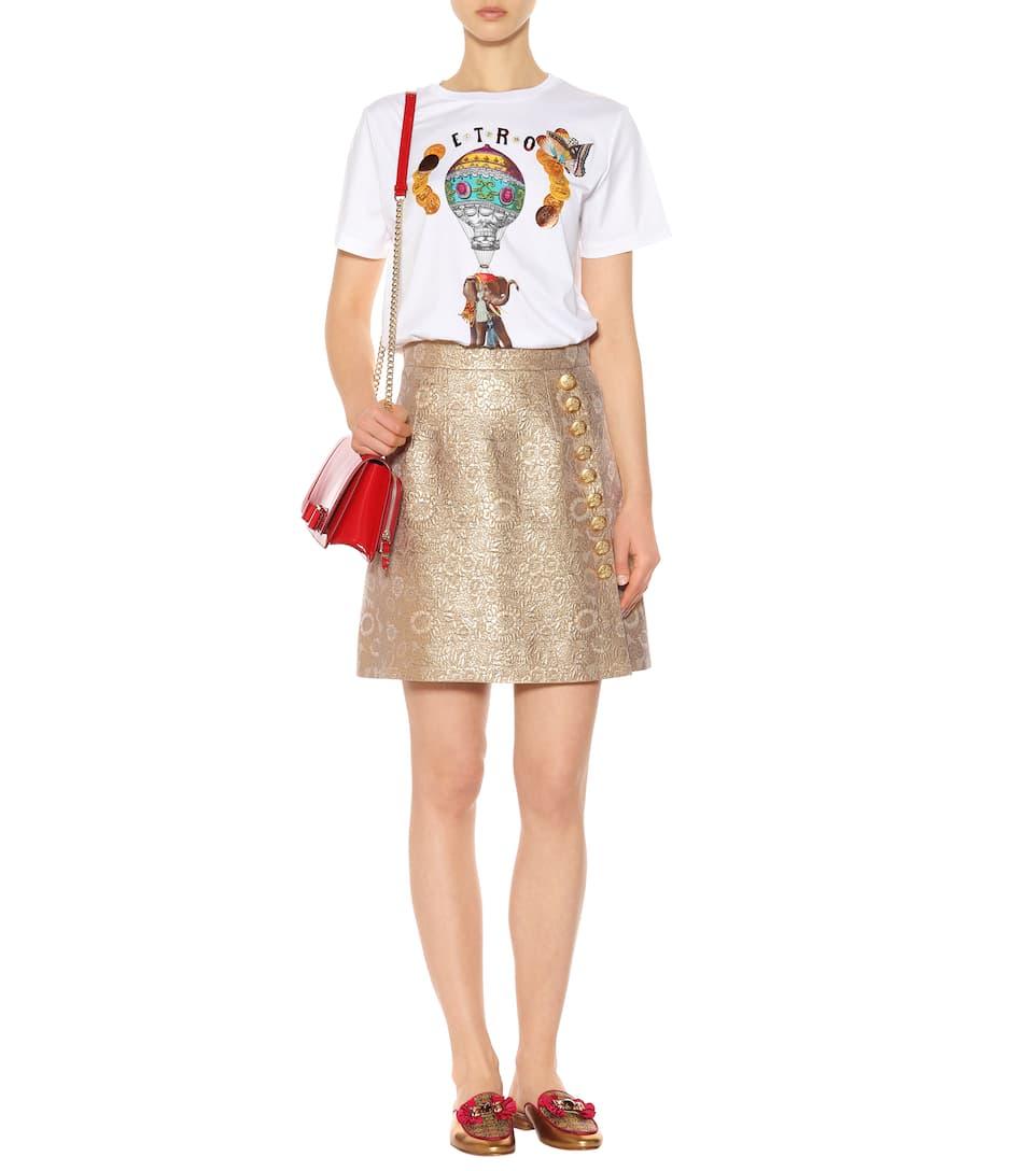 Etro Bedrucktes T-Shirt aus Baumwolle