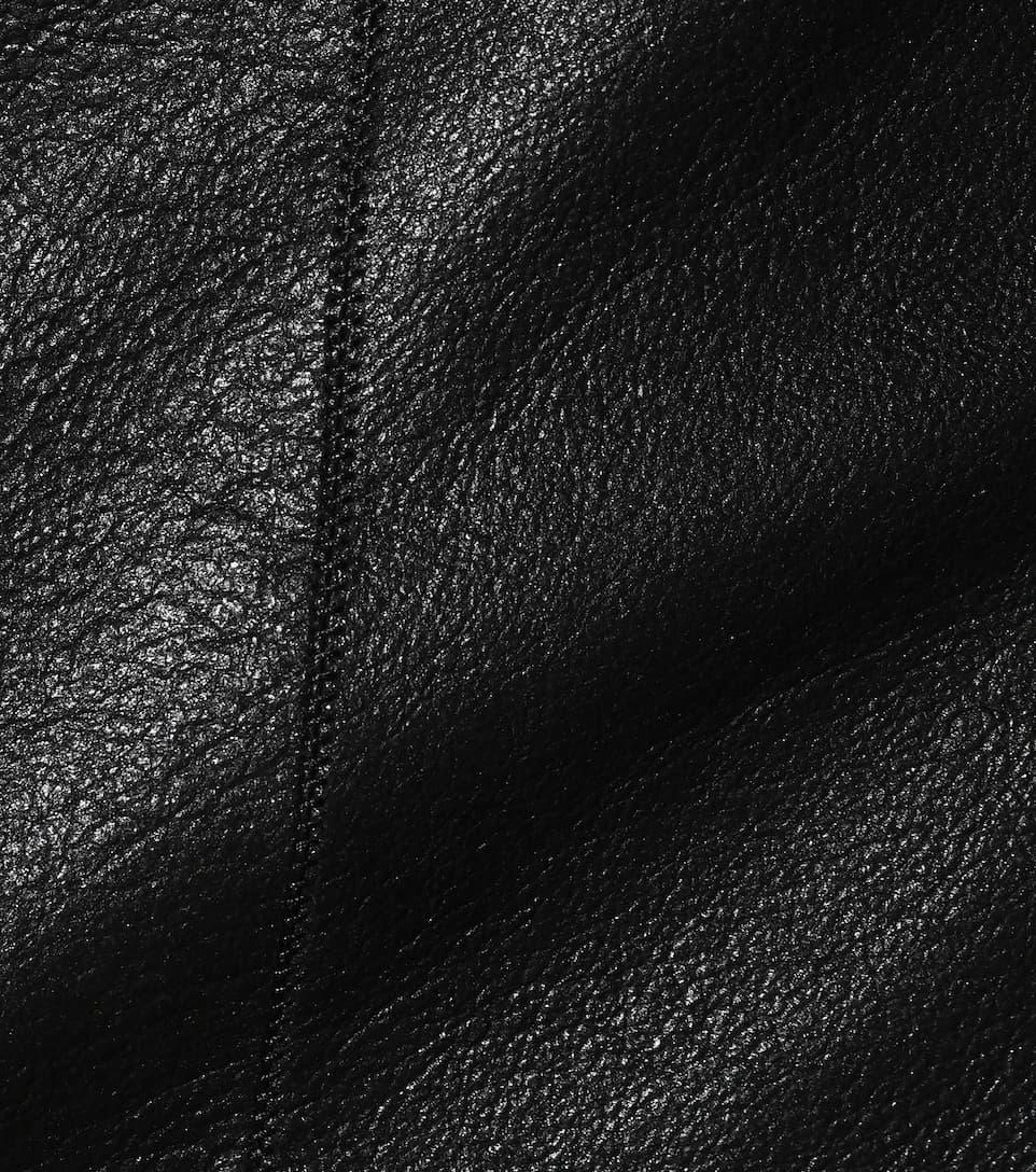 Rick Owens Lederjacke mit Jersey Billig Authentisch Von Freiem Verschiffen Des Porzellans Günstig Kaufen Erstaunlichen Preis Günstig Kaufen Perfekt Vx4S3