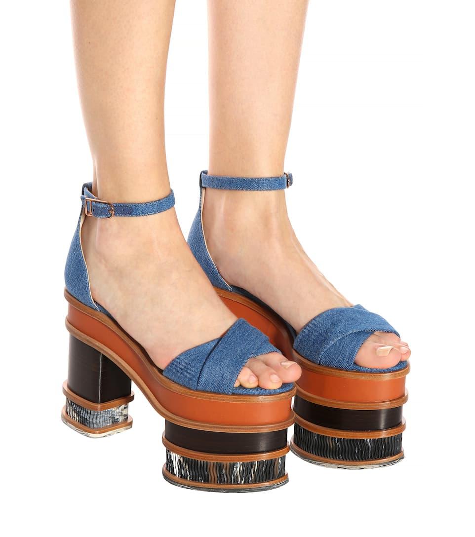 Charlie denim plateau sandals Gabriela Hearst 09Fm4LuoP
