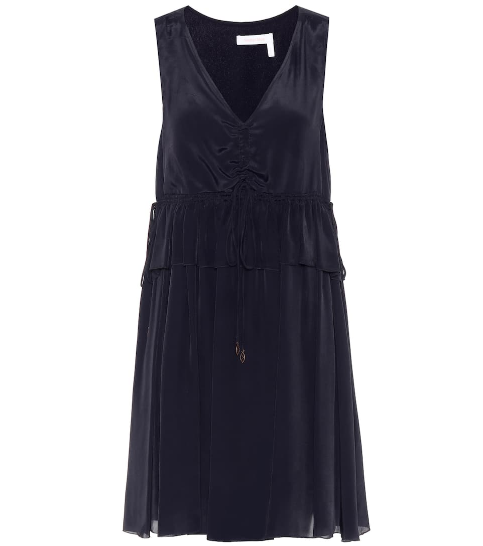 Sleeveless silk-blend dress See By Chlo</ototo></div>                                   <span></span>                               </div>             <div>                                     <div>                                             <span>                         You're seeing news from                     </span>                                         </div>                                     <ul>                                             <li>                         <a href=