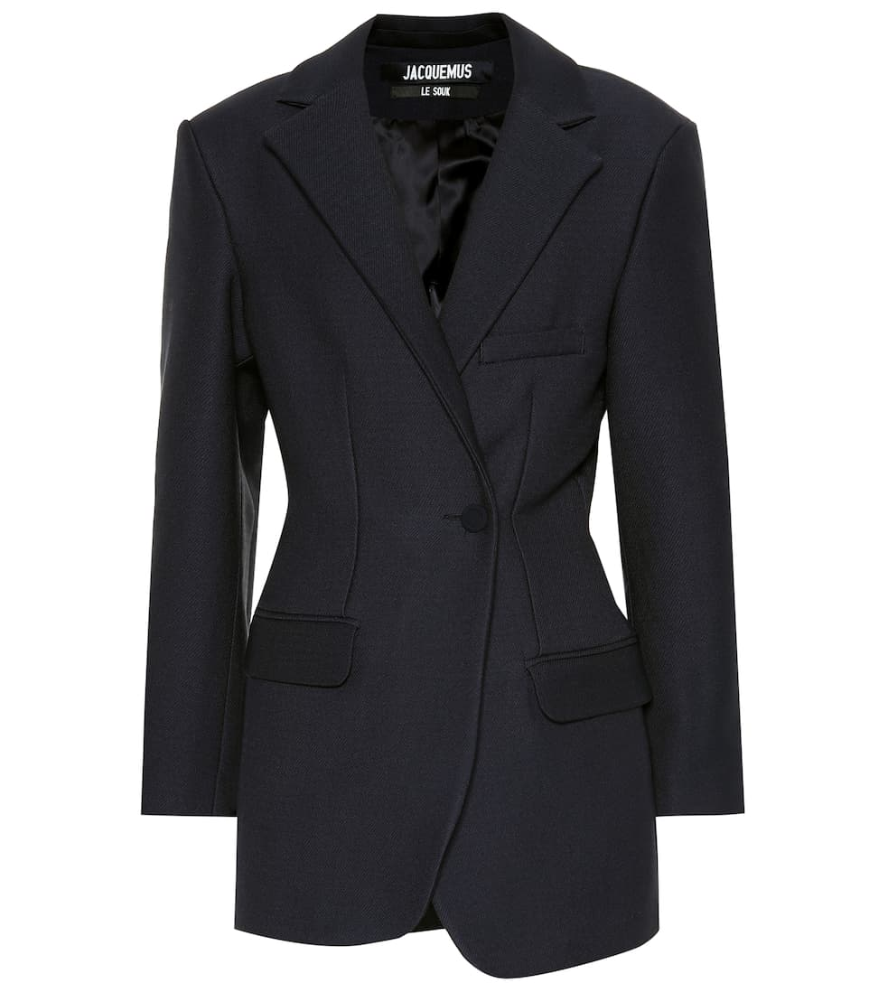 Asymmetric Wool Blend Jacket by Jacquemus