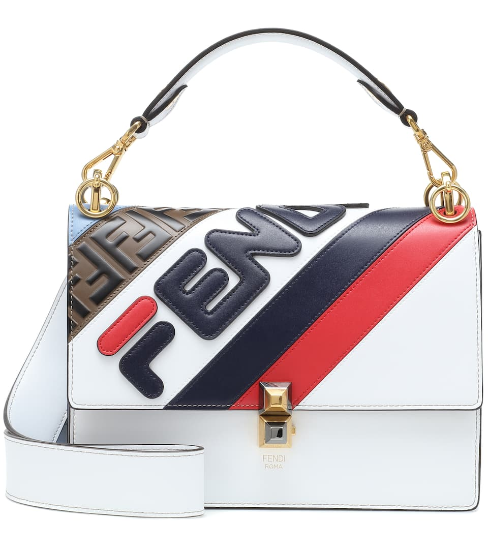 131a65386cc3 Fendi Mania Kan I Leather Shoulder Bag - Fendi