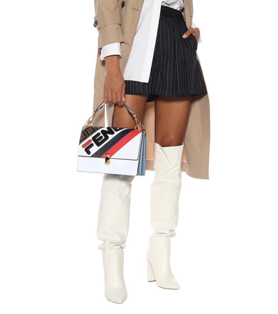 49a3cd59d4a7 Fendi Mania Kan I Leather Shoulder Bag - Fendi