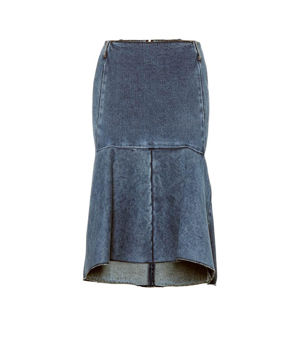Balenciaga Jupe Jean À Taille Haute En FTJlc31K