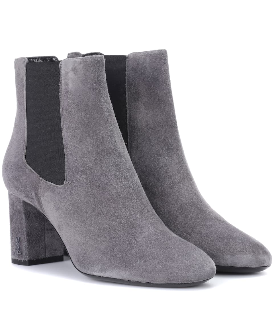 Saint Laurent Ankle Boots From Suede Loulou