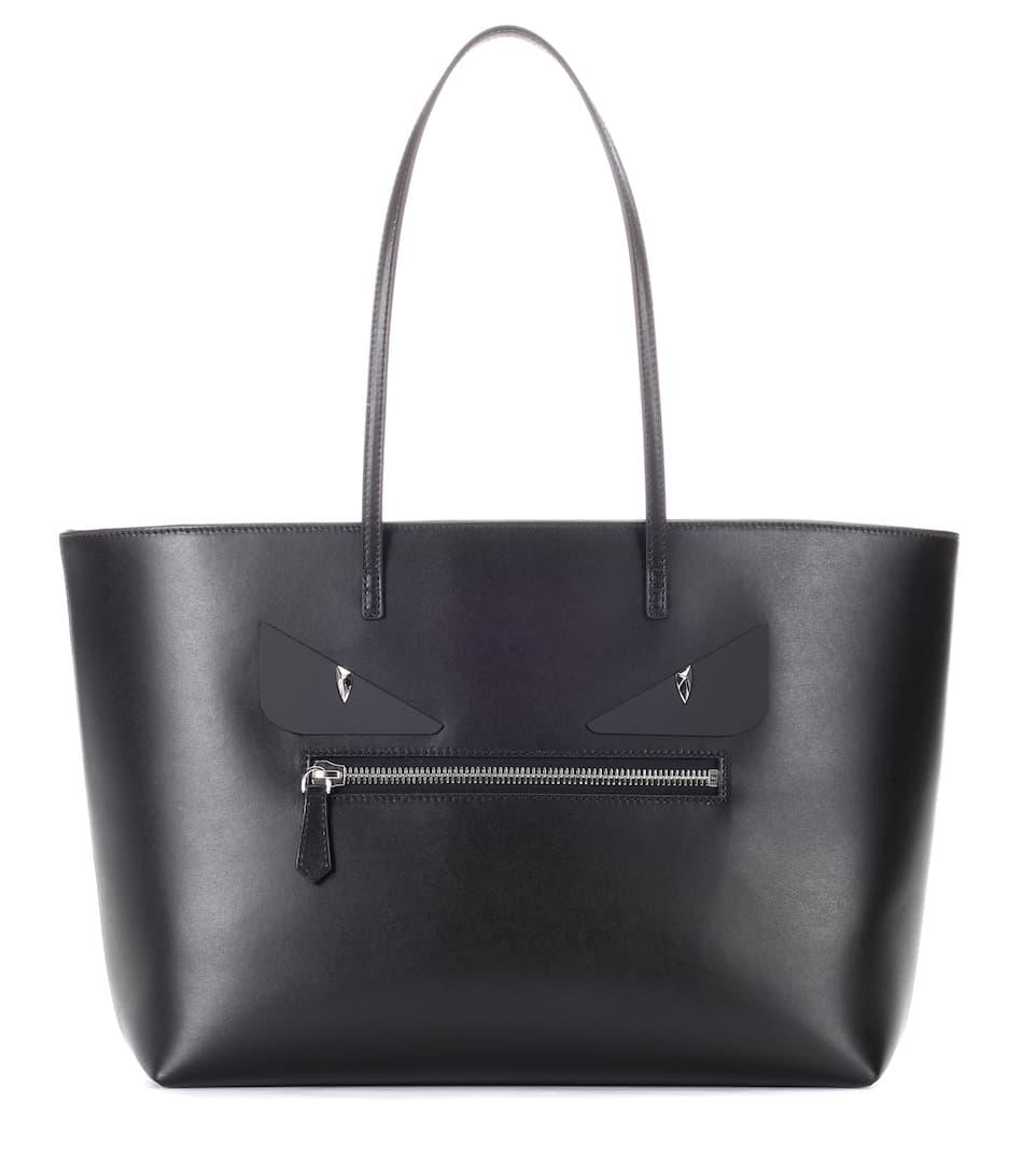 Fendi Shopper Bag Bugs aus Leder