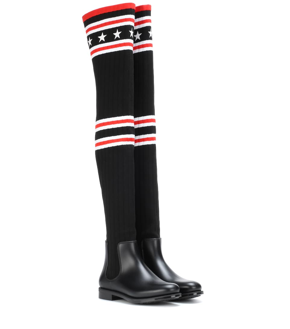 2a18ebcdb Knitted Over-The-Knee Boots