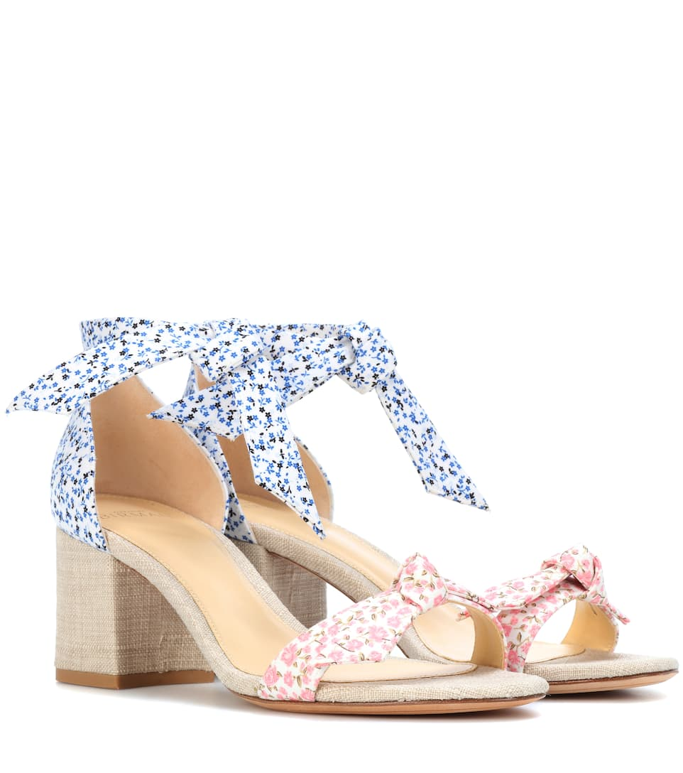 Exclusive to mytheresa.com - Clarita floral-printed sandals Alexandre Birman NXCU2o1VdA